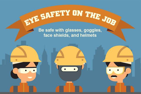 [Infographic]眼睛安全上的工作:用眼镜,护目镜,面罩和头盔安全