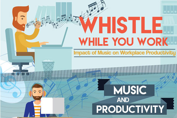 [Infographic] The Impact of Music on Productivity: Whistle While You Work