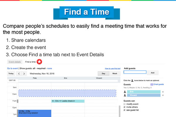[Infographic] 25 Google Calendar Hacks to Save You Time