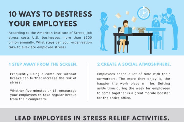 [Infographic] 10 Ways To De-Stress Your Employees