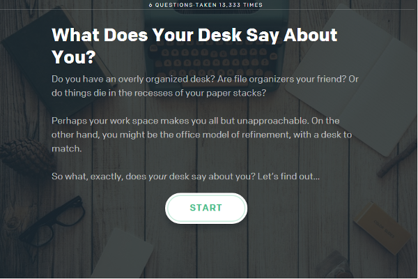 Interactive Quiz: What Does Your Desk Say About You?