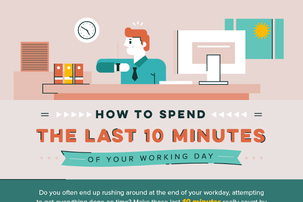 [Infographic] How To Spend The Last 10 Minutes Of Your Working Day