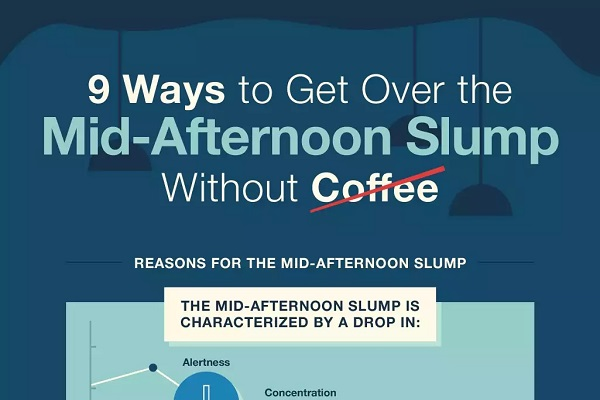 9 ways to get over the mid-afternoon slump